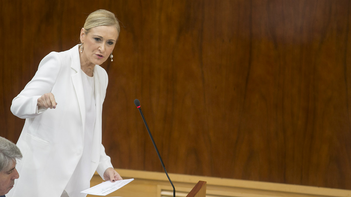 Cristina Cifuentes en la Asamblea de Madrid (Alberto Cuéllar PP de Madrid).