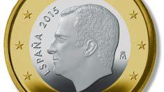 Moneda de euro con Felipe VI.