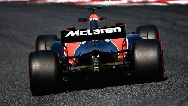 El MCL32 de McLaren-Honda en pista (Getty)