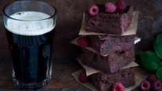 Receta de Brownies de chocolate Guinness