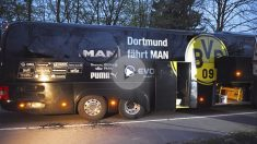 Autobús del Borussia Dortmund. (Foto: AFP)