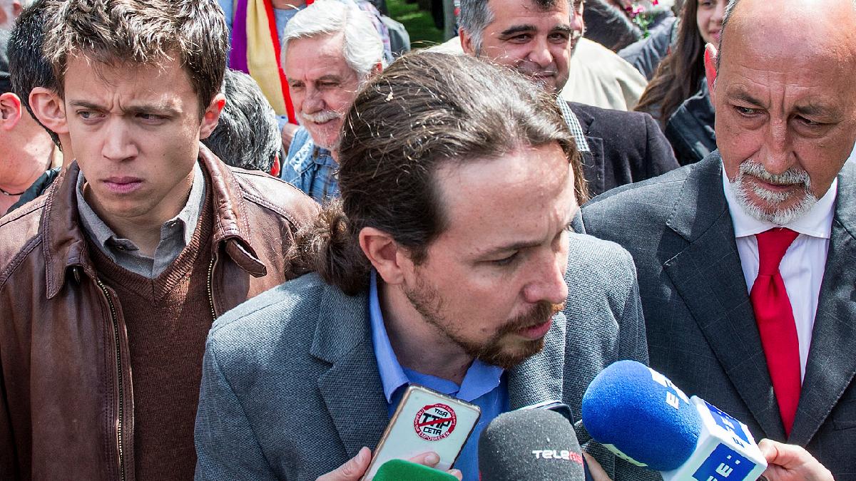 Íñigo Errejón, Pablo Iglesias y Jesús Montero. (Foto: Flickr)