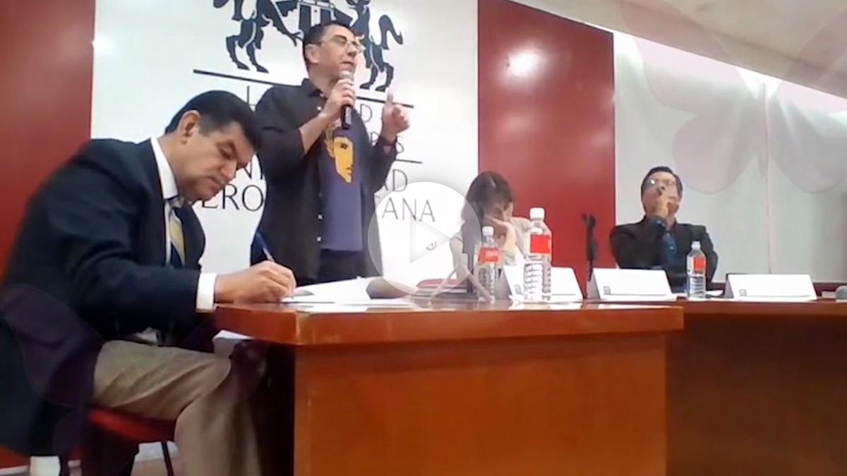 Juan Carlos Monedero en la Universidad Iberoamericana de México.