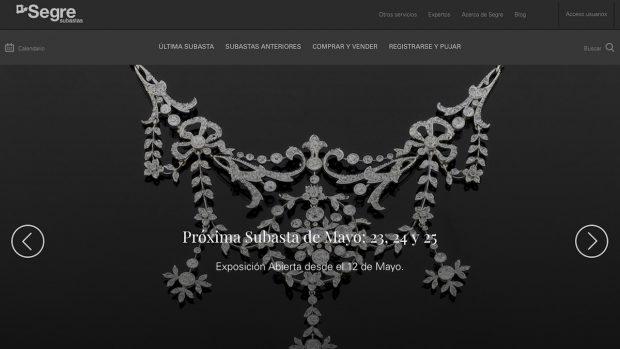 Página web de Subastas Segre.