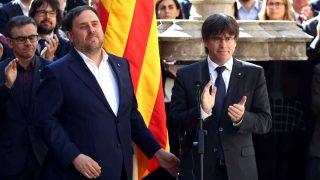 Carles Puigdemont y Oriol Junqueras (Foto: EFE).