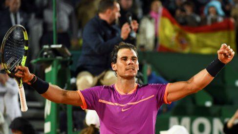 Rafa Nadal celebra la victoria. (AFP)