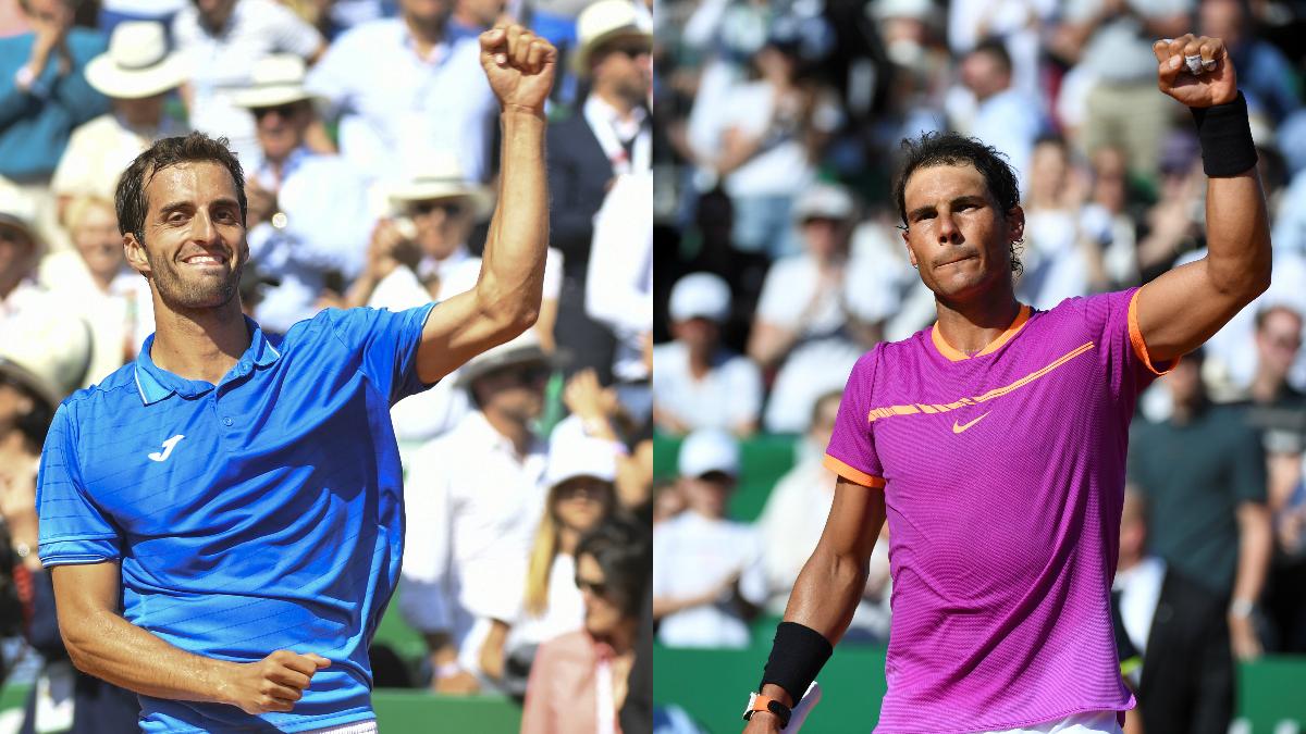Albert Ramos y Rafael Nadal. (AFP)