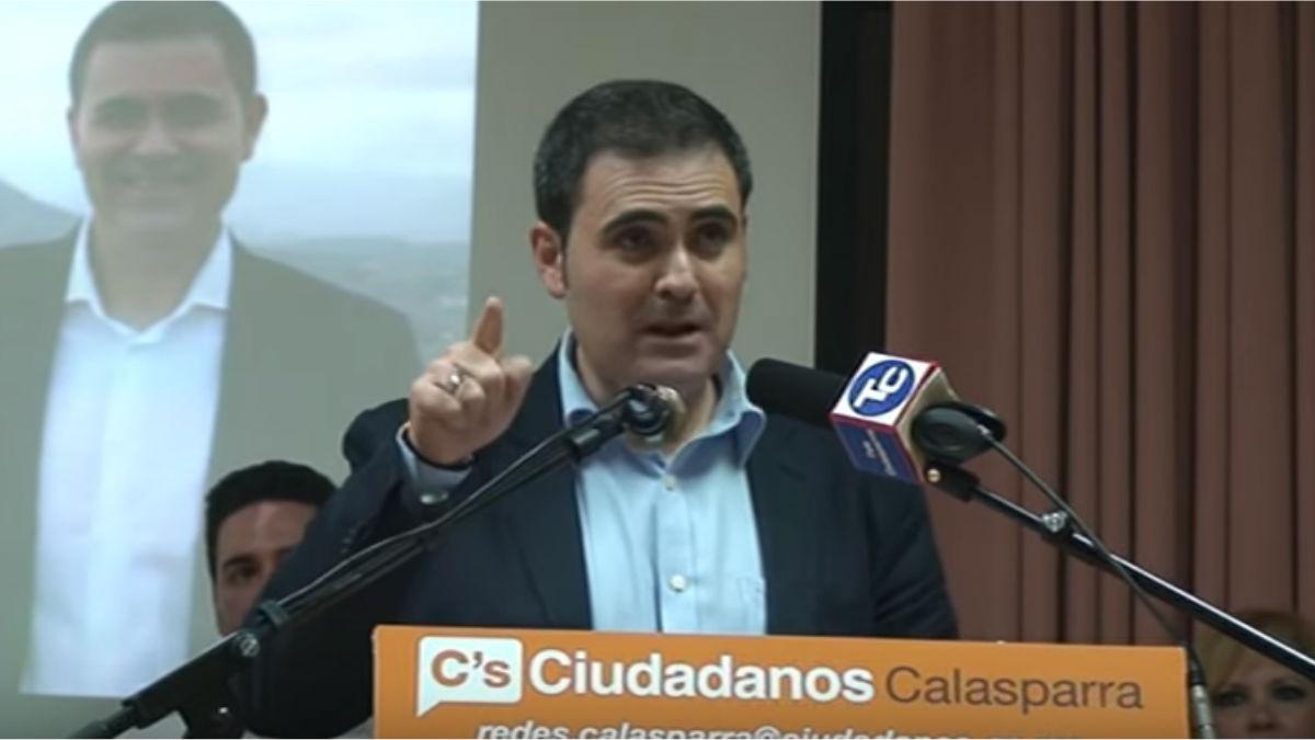 Jesus Alajarin, portavoz de C's en Calasparra (Murcia).