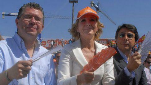 Francisco Granados, Esperanza Aguirre e Ignacio González. | Última hora Cifuentes