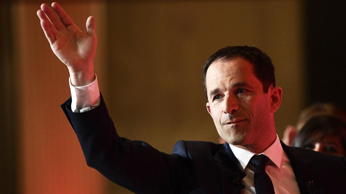 Benoit Hamon tras la debacle electoral socialista en Francia (Foto: AFP)