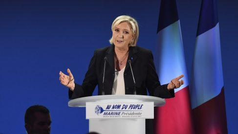 Marine Le Pen en una reciente imagen (Foto: AFP).