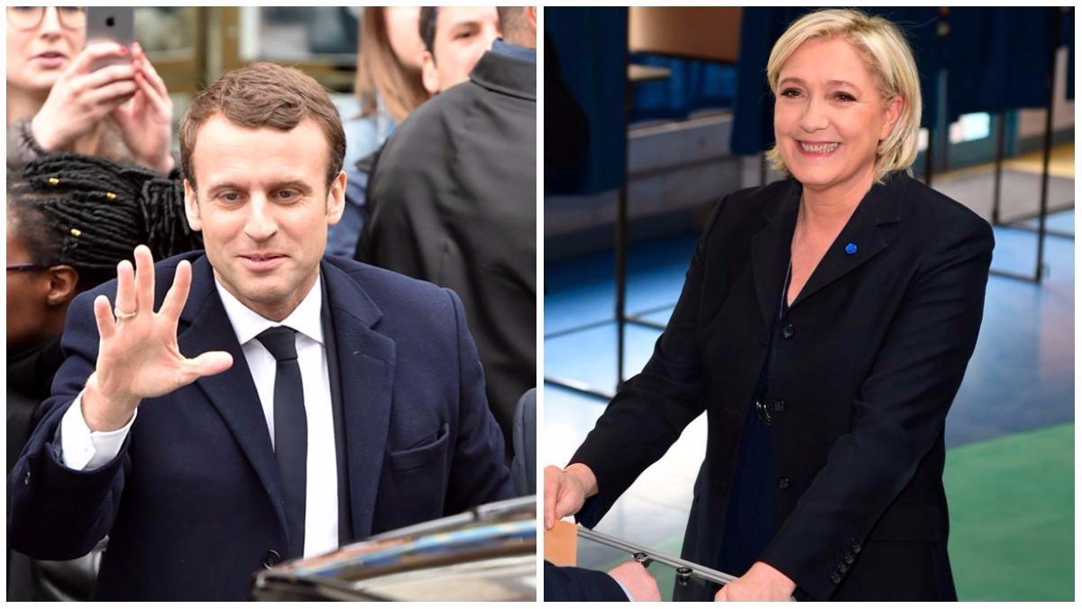 Emmanuel Macron y Marine Le Pen.