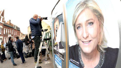 Cartel electoral de Marine Le Pen (Foto: AFP).