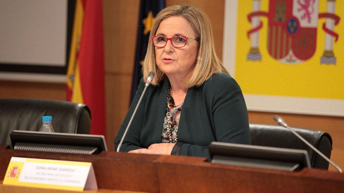 Irene Garrido, secretaria de Estado de Economía y Apoyo a la Empresa.