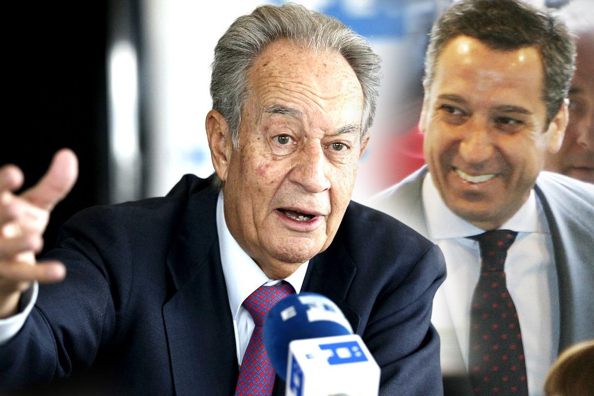 Juan Miguel Villar Mir y Eduardo Zaplana. (Fotos: EFE)