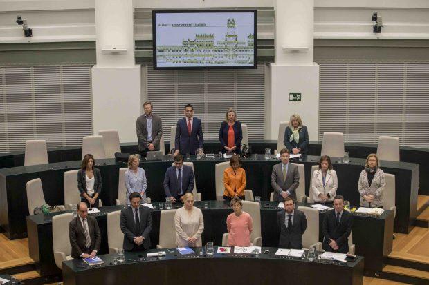 Grupo Popular en el pleno del Ayuntamiento de Madrid. (Foto: Alberto Nevado / OKDIARIO)