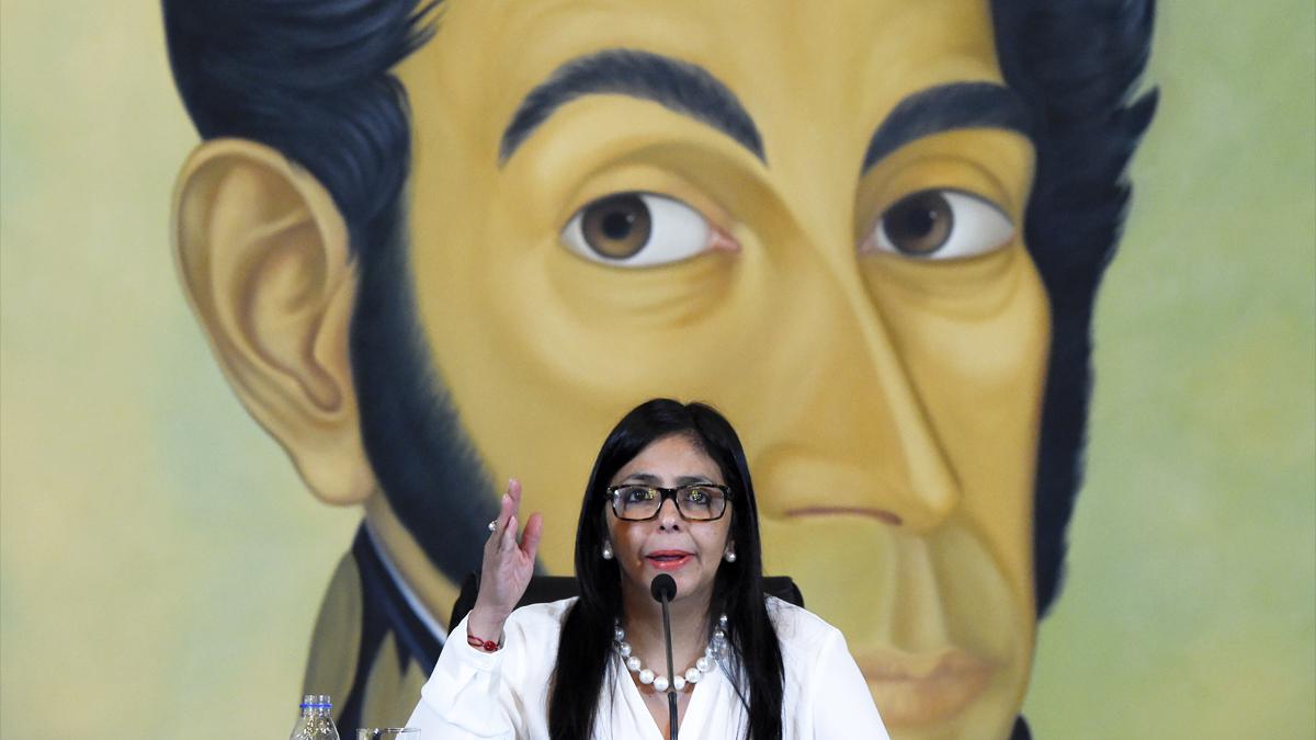 Delcy Rodríguez, presidenta de la ilegítima Constituyente de Venezuela. (Foto: AFP)