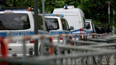 Furgones de la policía alemana (Foto:AFP)