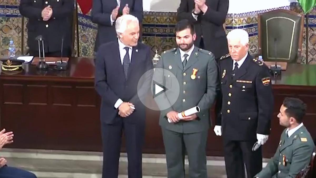 El teniente de la Guardia Civil, Óscar Arenas