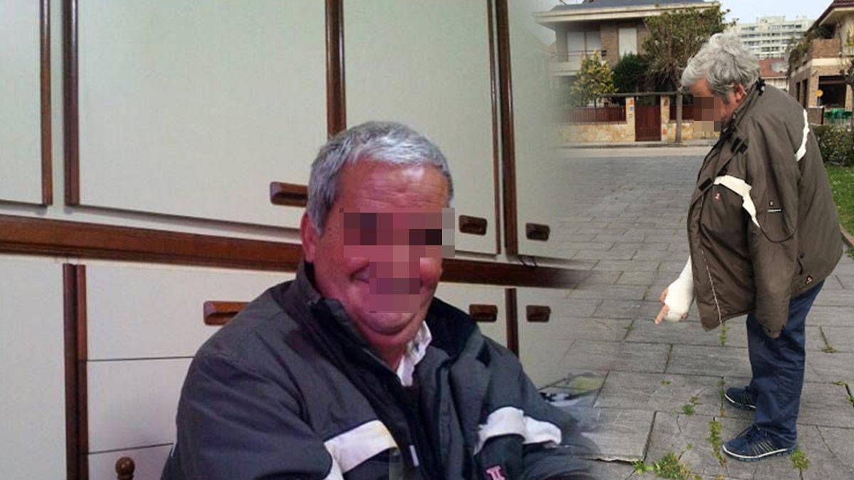 Dos imágenes del discapacitado M. cuya cuenta fue utilizada para pagar las cuotas de casi 500 militantes del PP de Cantabria.