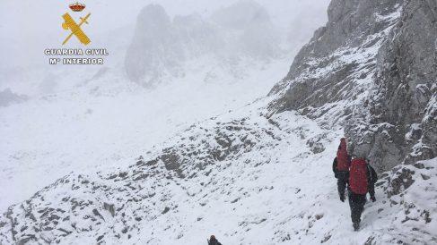 Imagen de unos montañeros