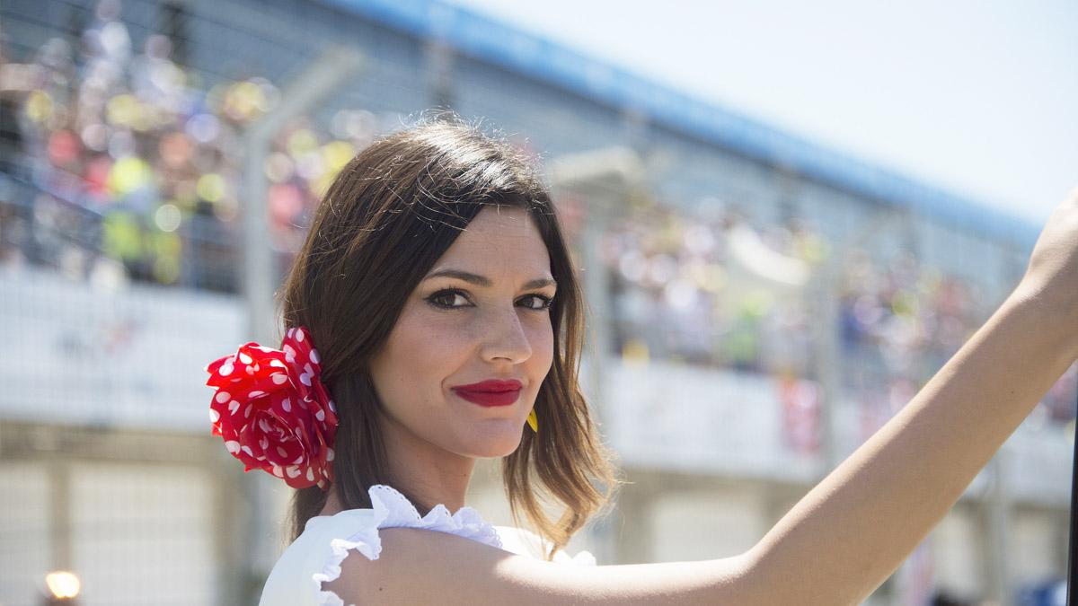 Azafata en el GP de Jerez de 2016. (Foto: Getty)