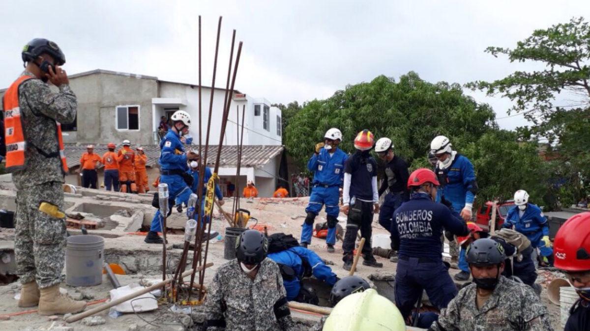 Equipos de rescate en Cartagena, Colombia (Foto: Cruz Roja)