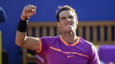 Rafa Nadal celebra su victoria ante Chung en cuartos del Godó. (AFP)