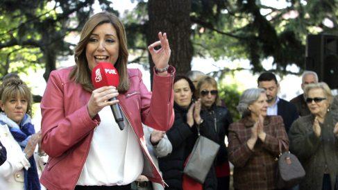 Susana Díaz en un acto en Ferrol este viernes (Foto: Efe).