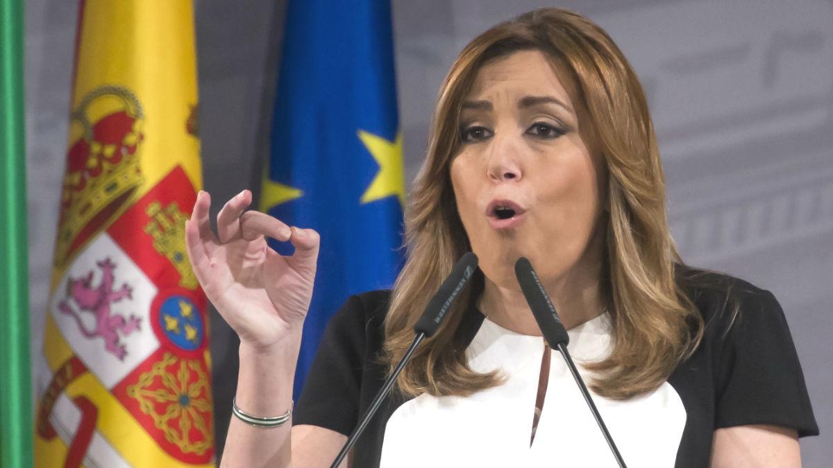 La candidata a la Secretaría General del PSOE y presidenta de la Junta de Andalucía, Susana Díaz (Foto: Efe)