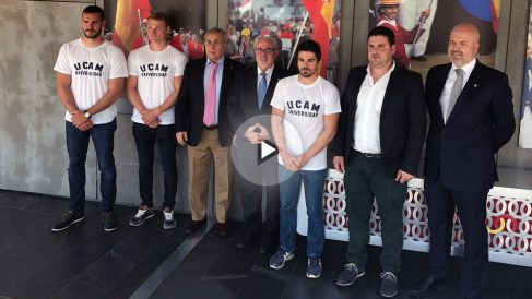 Presentación del Club de Piragüismo de la UCAM.