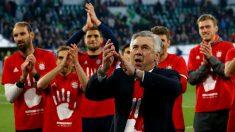 Ancelotti celebra la Bundesliga. (Getty)