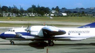 Avión de la compañía Aerogaviota.