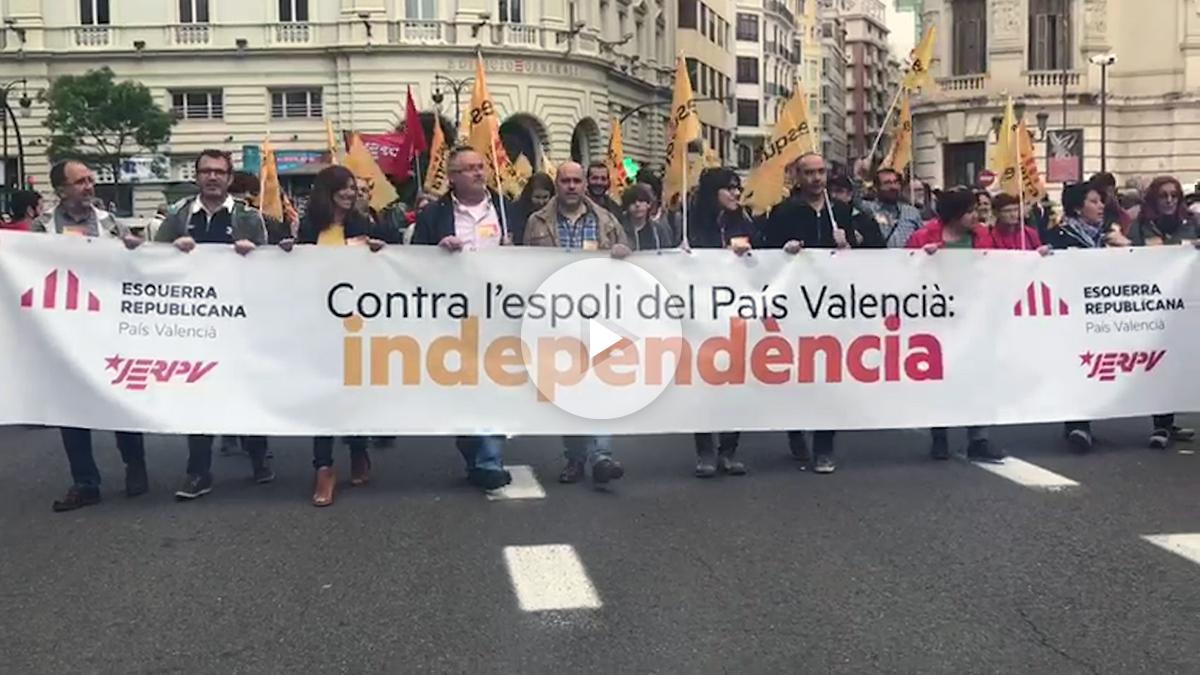 SOM VALENCIANS SE AVERGUENZA DE QUE BALDOVI Y COMPROMIS ENCABECEN LA MANIFESTACION INDEPENDENTISTA