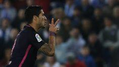 Luis Suárez firmó un doblete ante el Espanyol. (AFP)