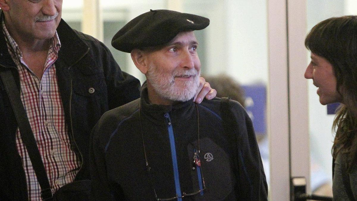 El etarra Bolinaga tras salir de prisión. EFE
