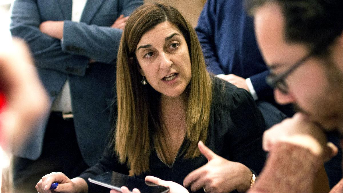 La presidenta regional del PP de Cantabria, María José Sáenz de Buruaga (Foto: EFE).