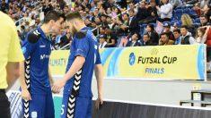 Los jugadores de Movistar Inter celebran un gol en la final. (@intermovistar)