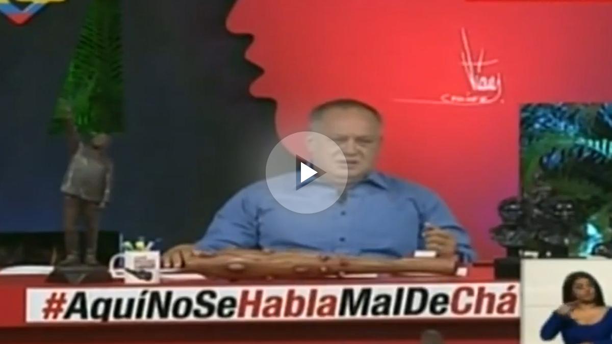 Diosdado Cabello en su programa 'Con el mazo dando'.