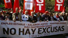 La manifestación del 1 de Mayo de 2017