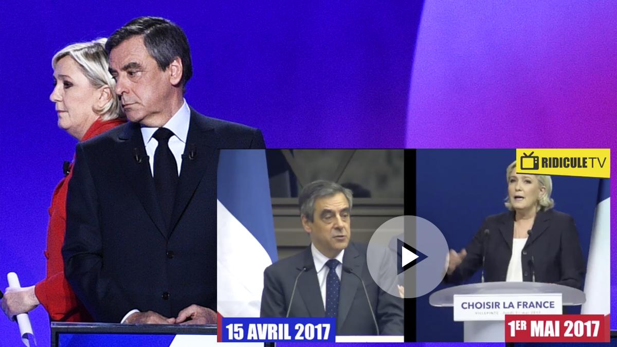 François Fillon y Marine Le Pen. (Foto: AFP)