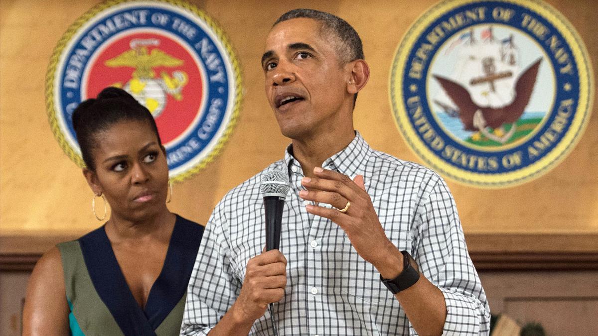 Michelle y Barack Obama. (Foto: AFP)