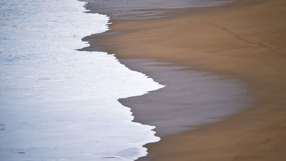 Playa de Nazaré, Portugal. (Foto: AFP)