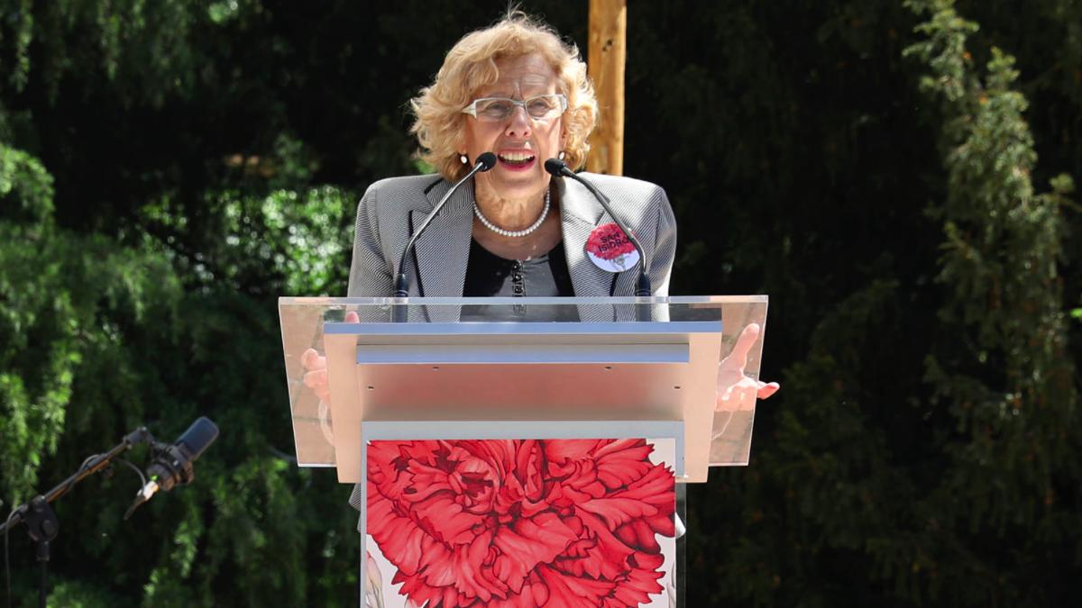 La alcaldesa Manuela Carmena en la presentación de San Isidro 2017. (Foto: Madrid)