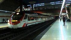Estación de Cercanías de Nuevos Ministerios, en Madrid.