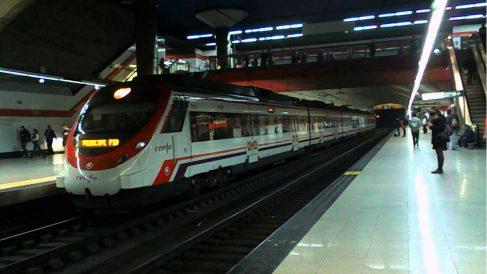 Una estación de Cercanías.