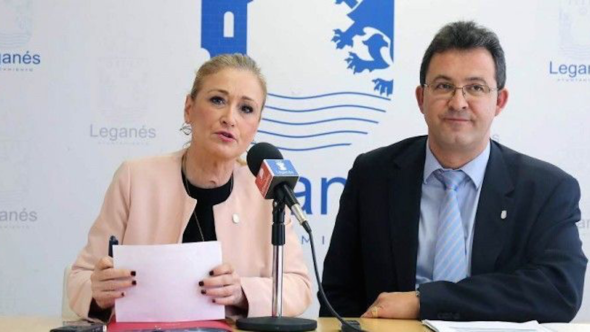 Cristina Cifuentes y Jesús Gómez.