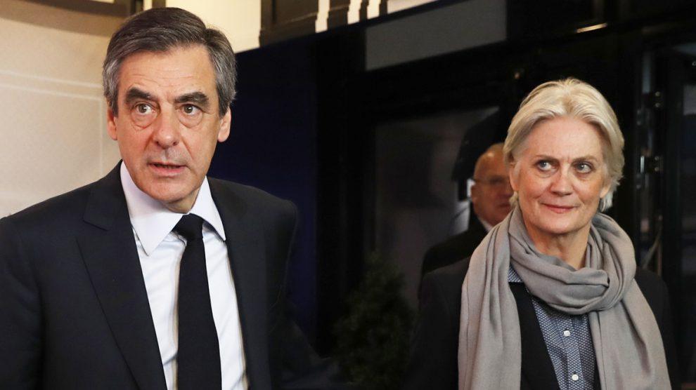 François y Pénélope Fillon. (Foto: AFP)