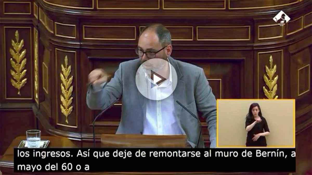 El portavoz económico de Podemos, Alberto Montero.
