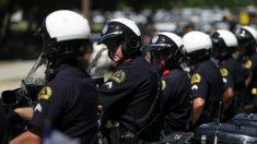 Varios agentes de la policia de Dallas (Foto:AFP)